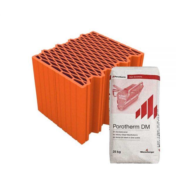 Porotherm 30 X-therm Rapid tégla + vékony falazóhabarcs