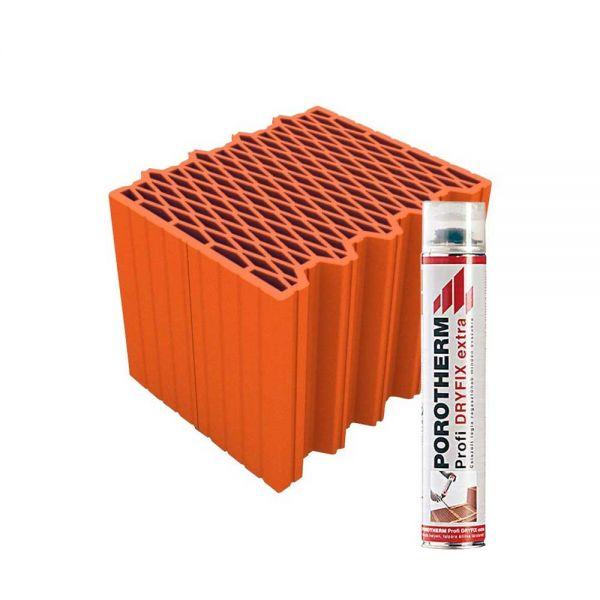 Porotherm 30 X-therm Rapid tégla + Dryfix hab