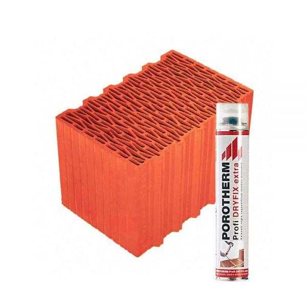 Porotherm 38 X-therm Rapid tégla + Dryfix hab