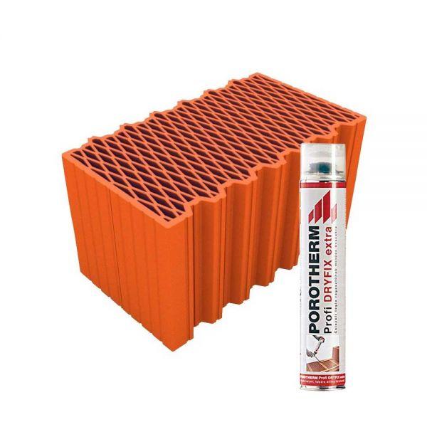 Porotherm 50 X-therm Rapid tégla + Dryfix hab